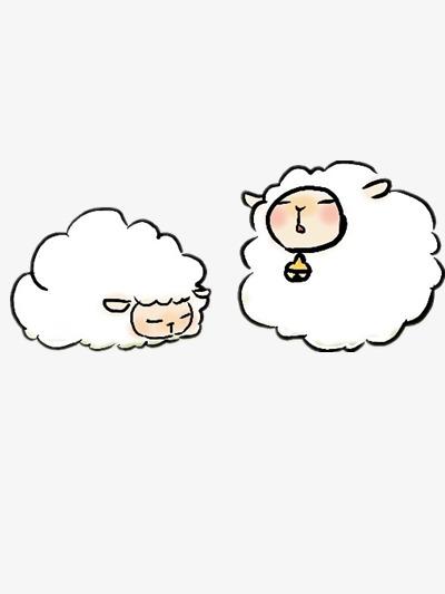 两只昏昏欲睡的羊图片