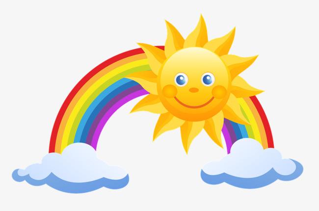 彩虹简易手绘图