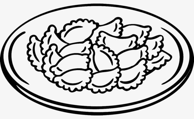 简笔画饺子