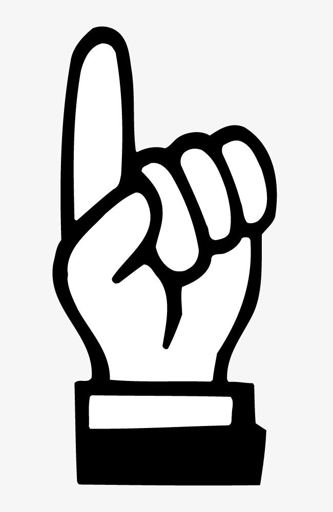 手绘背景_手绘食指点击手势图片png素材-90设计