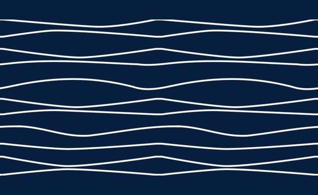 2017白色手绘波浪线