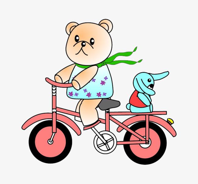 小熊 自行车 旅行 游玩             此素材是90设计网官方设计出品图片