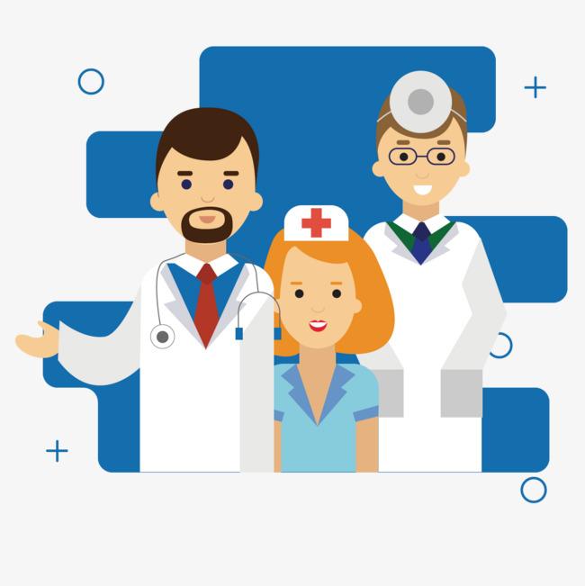 矢量医生护士图片