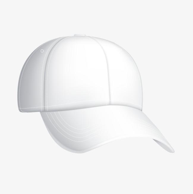 """本次白色鸭舌帽时尚帽子作品为设计师青藤""""创作,格式为png,编号为图片"""