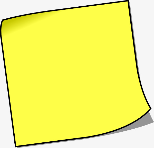 黑色边框便利贴【高清效果元素png素材】-90设计