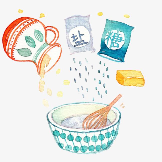 食品制作手绘图