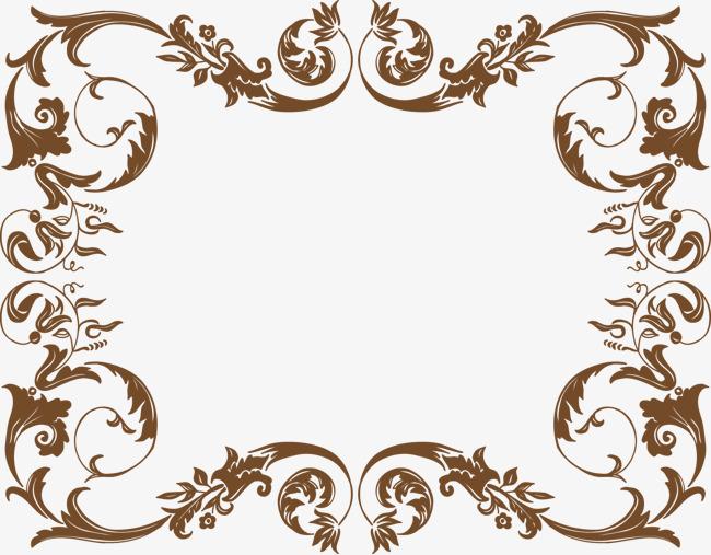 美式复古风花纹边框