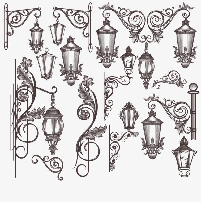 矢量手绘灯png素材-90设计图片