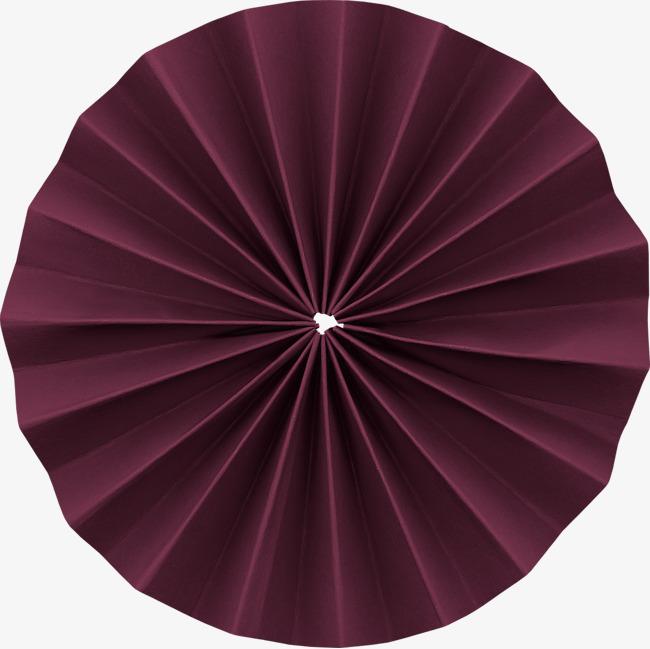 暗红色圆形折纸