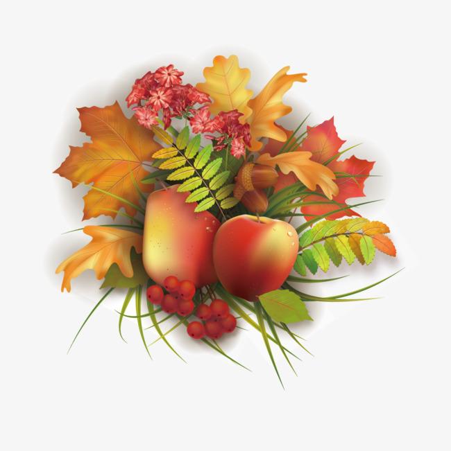矢量手绘秋季丰收
