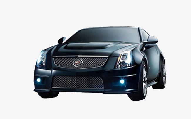 黑色新款凯迪拉克轿车素材