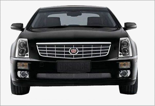 黑色凯迪拉克轿车正面素材