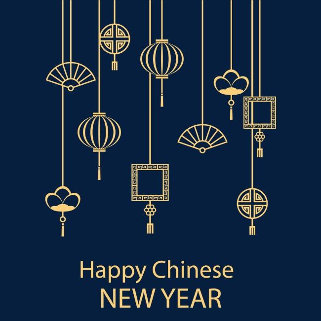 矢量中国的新年贺卡