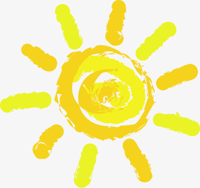 卡通手绘太阳免抠图片png素材-90设计