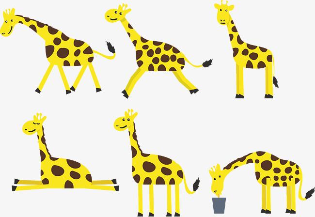 长劲鹿表情卡通矢量图