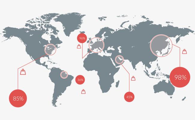 世界七大洲地图轮廓素材图片免费下载_高清效