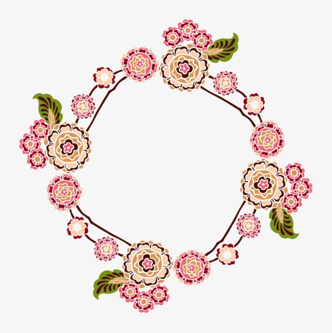 美丽手绘花簇