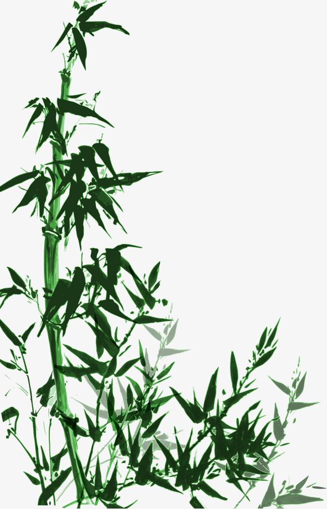 中国风手绘竹子矢量绿色素材图片免费下载_高清卡通