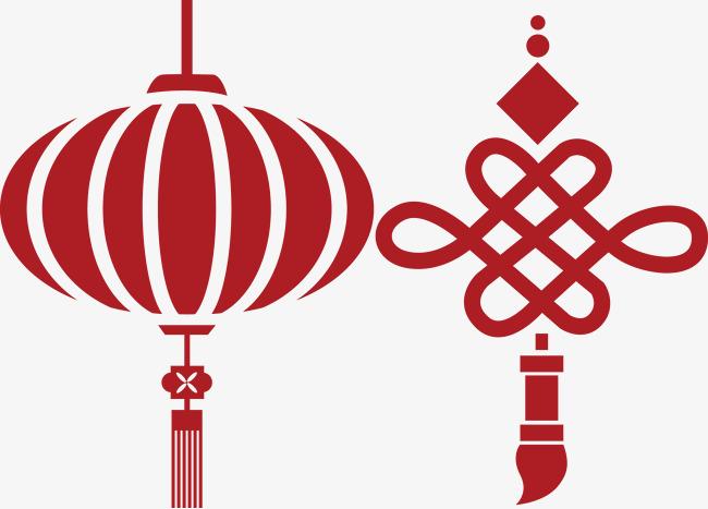 大红灯笼和平安中国结