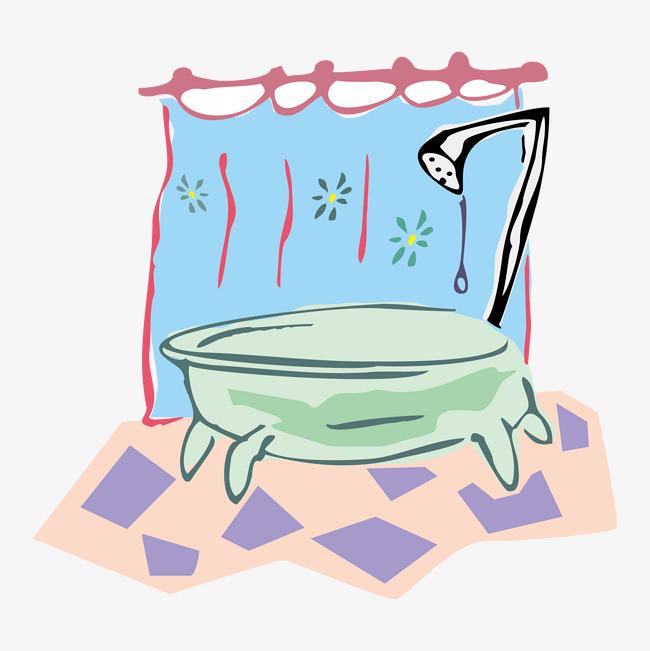 简笔画可爱浴缸