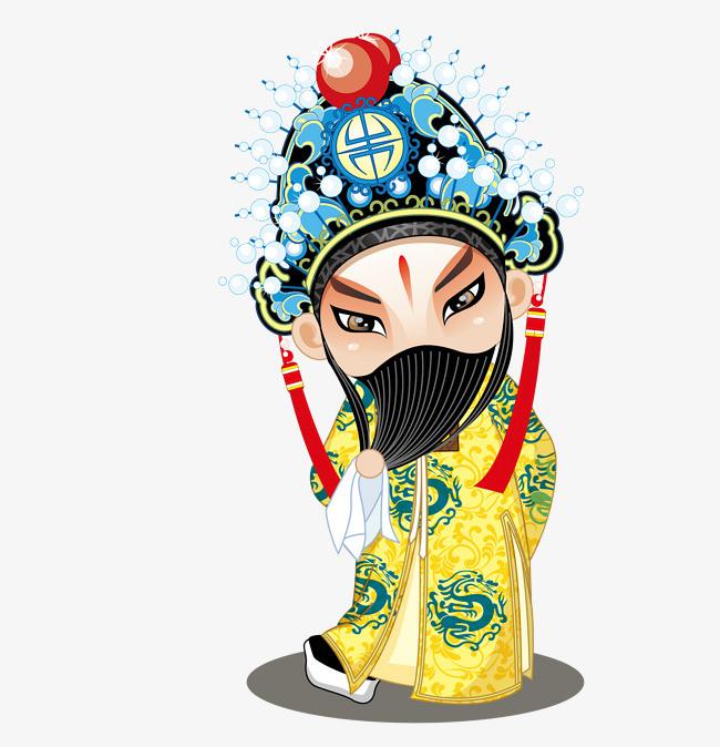 图片 > 【png】 可爱的卡通京剧人物矢量素材  分类:手绘动漫 类目