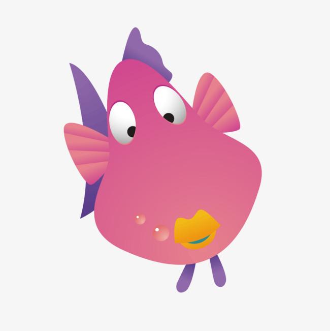 红色可爱金鱼翘嘴