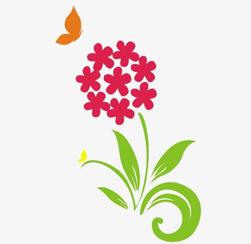 手绘花朵免抠素材