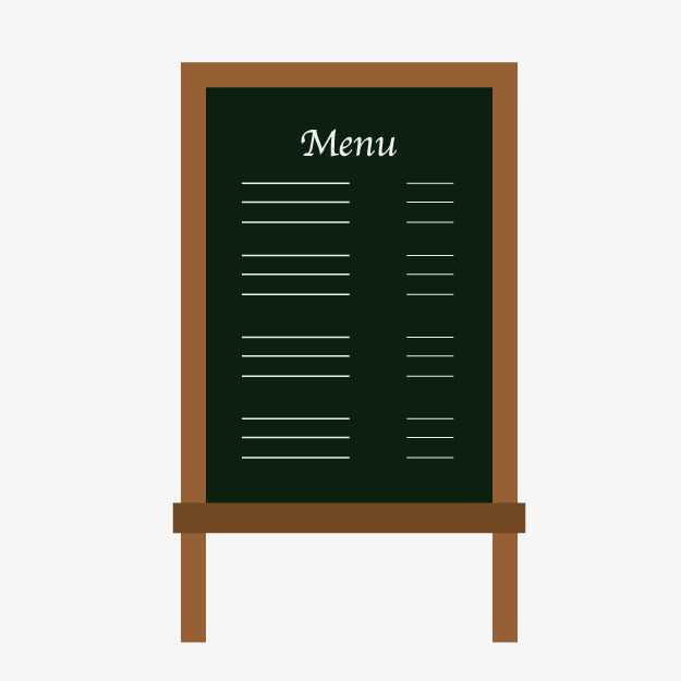卡通手绘菜单小黑板图片
