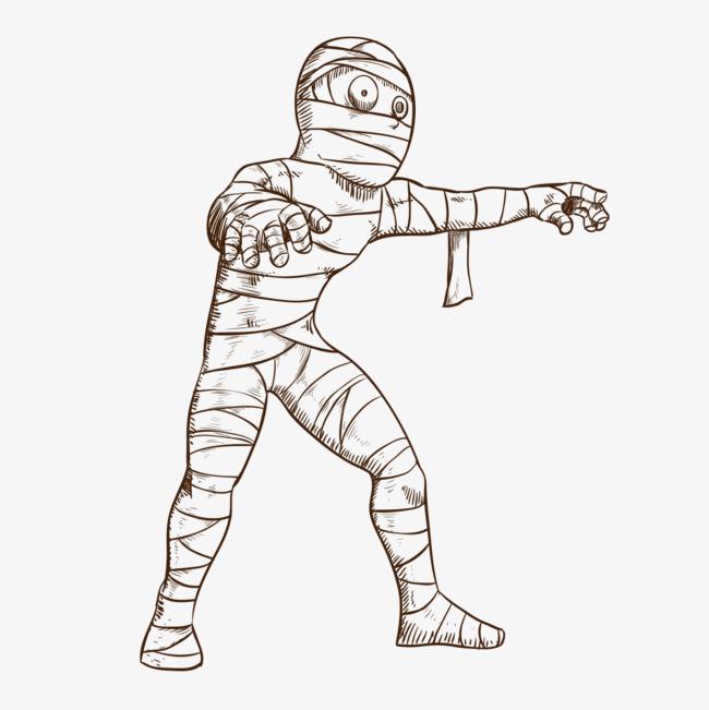 图片 > 【png】 怪物木乃伊  分类:手绘动漫 类目:其他 格式:png 体积