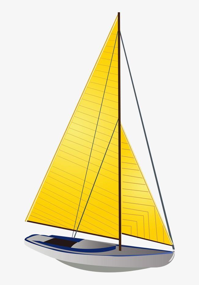 图片 > 【png】 卡通手绘矢量黄色帆船  分类:手绘动漫 类目:其他
