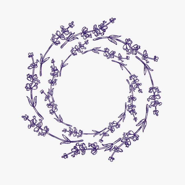 手绘卡通_手绘花圈png素材-90设计