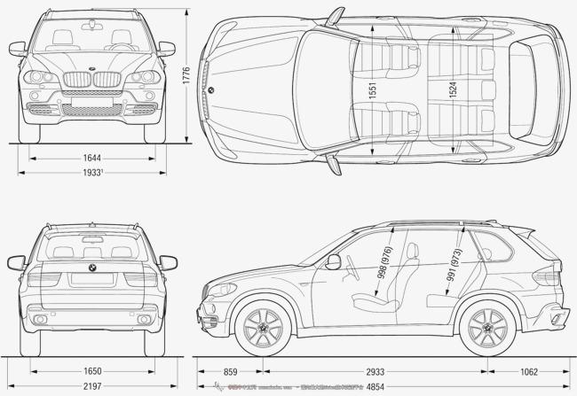 宝马轿车线框图