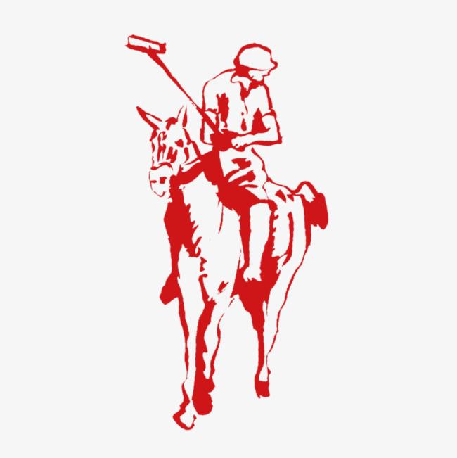 手绘骑马人