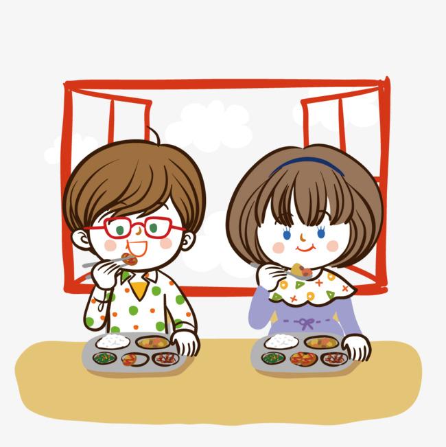卡通 吃饭矢量图__生活人物_人物图库_矢量图库_昵图图片