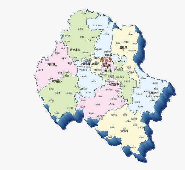 潍坊市市区地图高清版_山东省行政区划