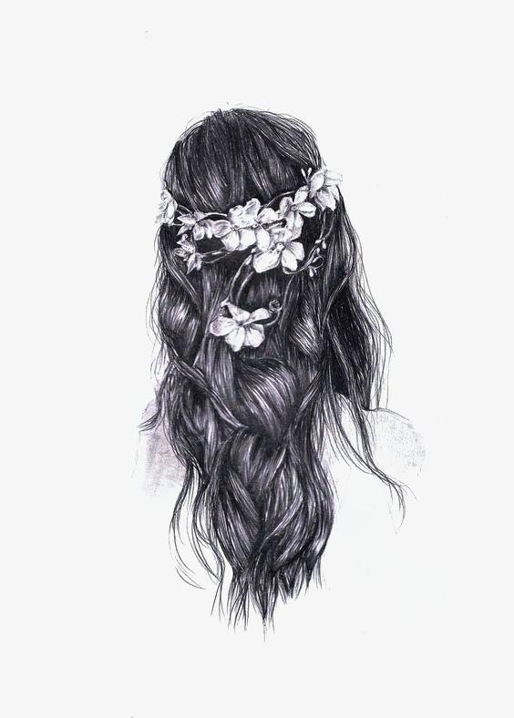 文艺女孩背影素材图片免费下载_高清卡通手绘