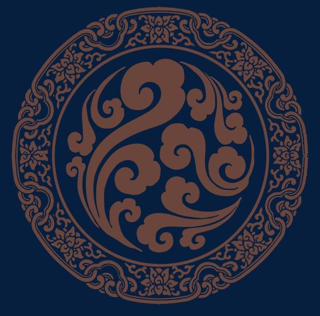中国风圆形图案图腾元素素材图片免费下载_高清装饰图案png_千库网(图