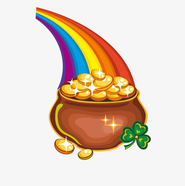 图片 > 【png】 彩虹金币聚宝盆  分类:手绘动漫 类目:其他 格式:png图片