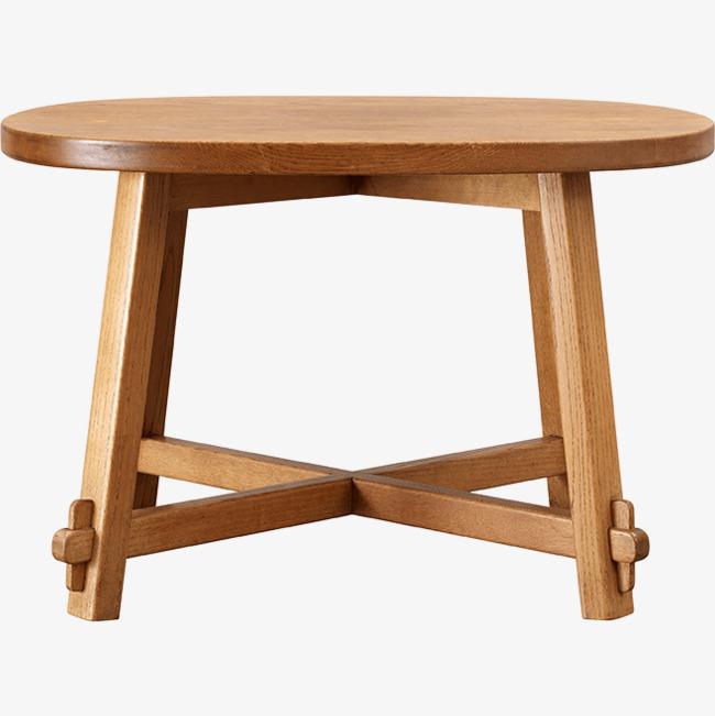 木头圆形桌子素材