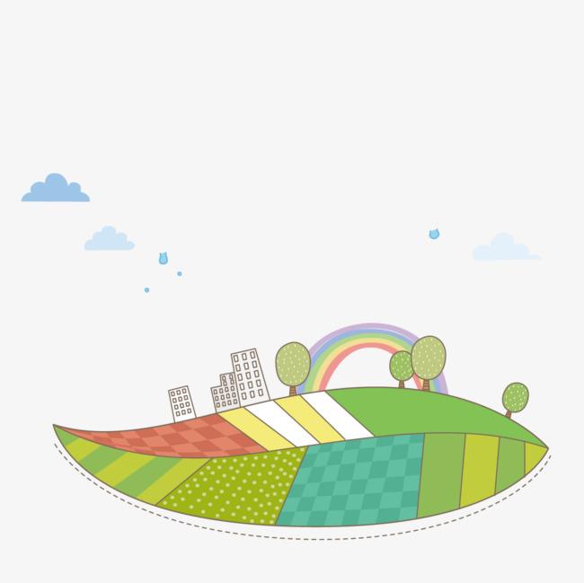 图片 > 【png】 卡通建筑彩虹  分类:手绘动漫 类目:其他 格式:png