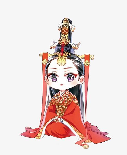 手绘红色新娘