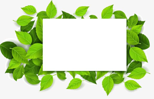 绿色树叶文字矢量设计框免费下载ui游戏输入计划书图片