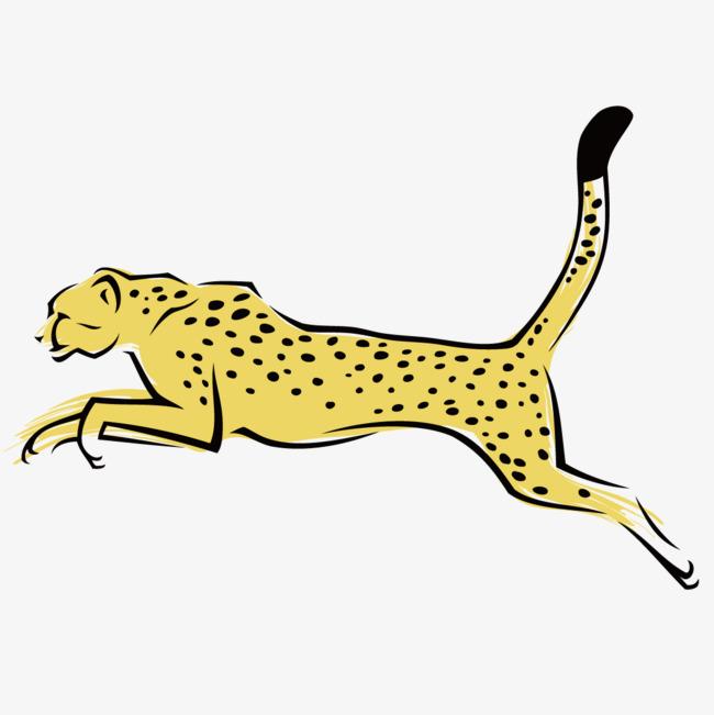 可爱手绘豹子