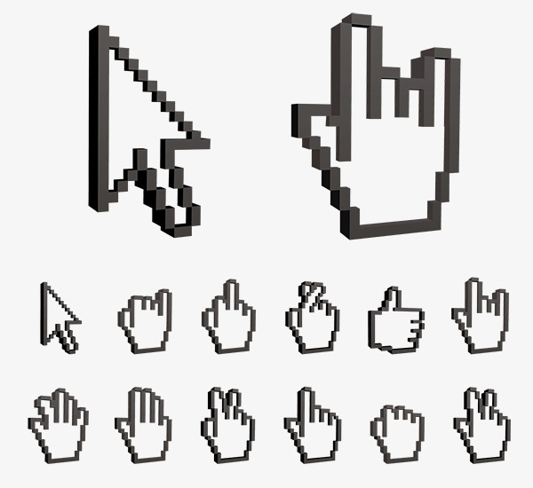 鼠标手指箭头设计