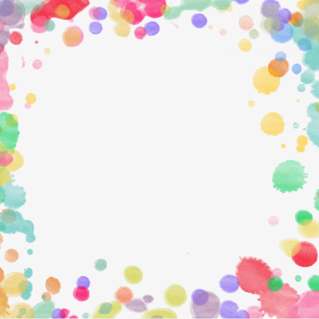 七彩泡泡边框
