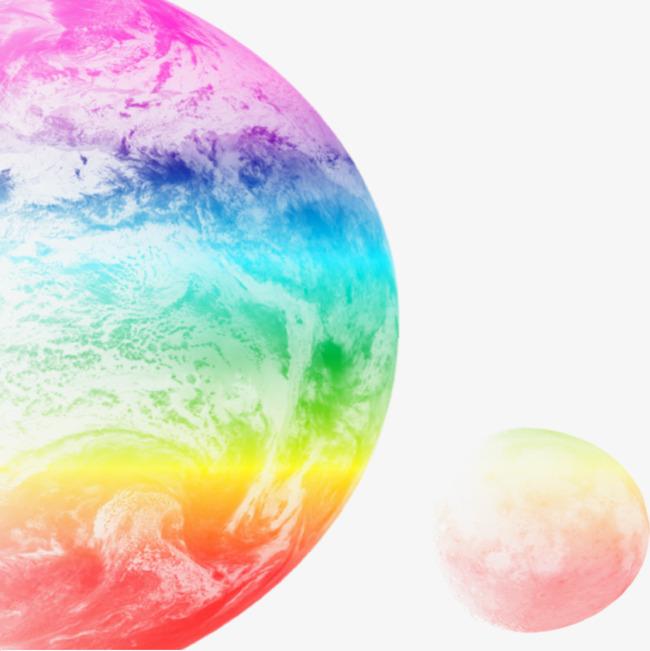手绘彩色星球