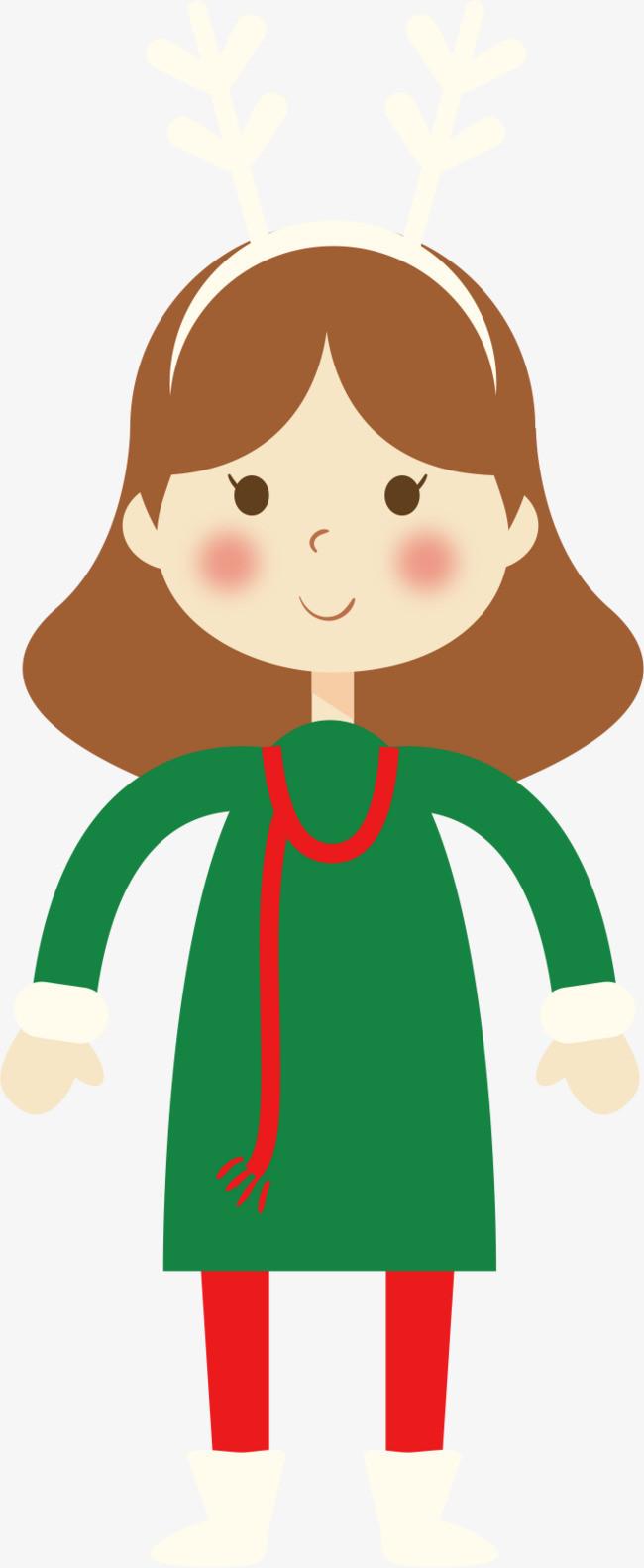 卡通小女孩_外国小女孩png素材-90设计图片