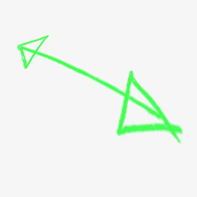 粉笔箭头绿色免抠图案png素材-90设计