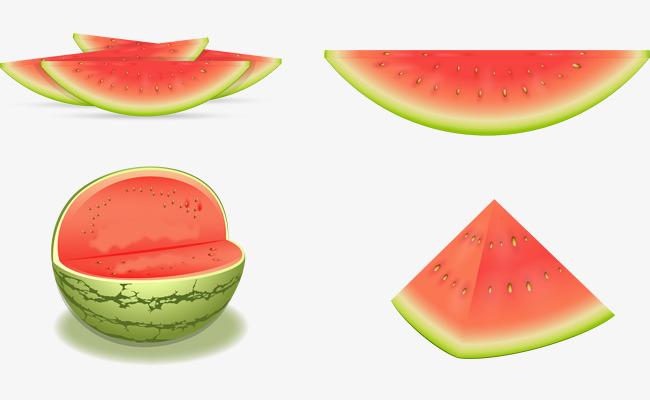 90设计提供高清png手绘动漫素材免费下载,本次矢量手绘切开的西瓜作品
