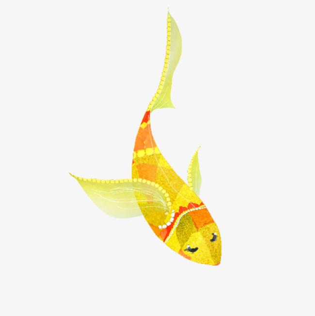 卡通彩色小鱼儿